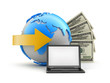 Online transactions - concept illustration