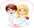 Lesbian Brides In Dresses Getting Married