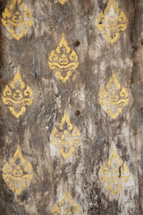 Thailand gold patterned door