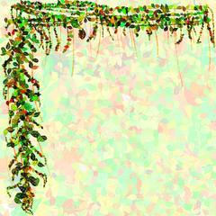 Leaf border and background illustration