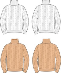 Vector illustration of men's sweater