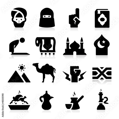 Arabian Culture Icons