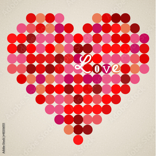 Vector retro heart