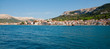 Panoramic view of Baska town and mountains from sea - Krk - Croa