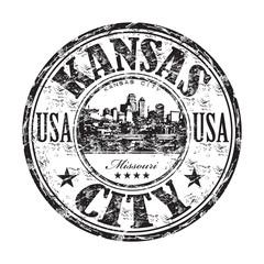 Kansas City grunge rubber stamp
