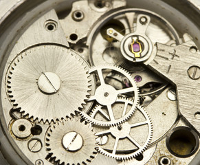 Clockwork close up