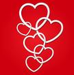 Elegant Valentine's  day card dsign teemplate
