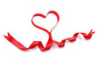 Heart shape red ribbon