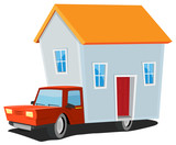 Small House On Delivery Truck poster