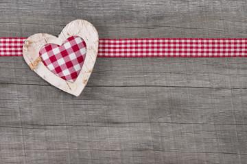 Kariertes Herz für die Liebe