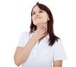 Mädchen klagt über Halsschmerzen