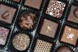 Box of various chocolate pralines