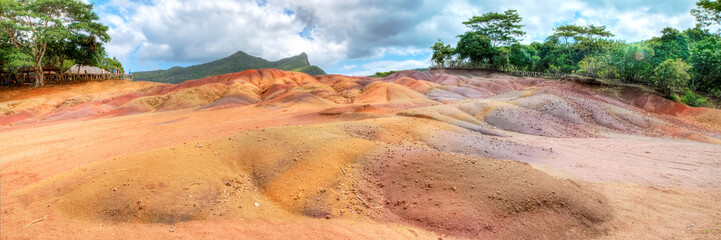 Seven coloured earth of Chamarel, Mauritius
