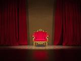 Prunkvoller Polsterstuhl auf Show Bühne poster