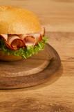 Crisp bred on wodden dish poster