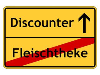 Fleischtheke - Discounter