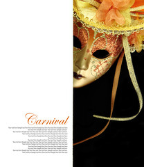 Carnival mask with copy-space