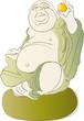 Lachender Buddha im Kugel