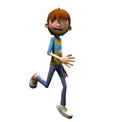 Junge läuft
