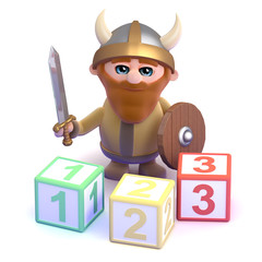 Viking learns to count