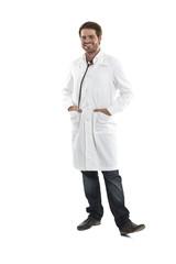 Fröhlicher Arzt