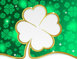 Gold clover on St. Patrick's Day