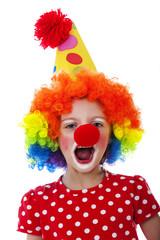 portrait of a little clown