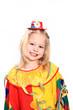 fröhliches Mädchen als Clown