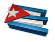 3d pieces of cuba flag - illustration