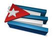 3d pieces of cuba flag - illustration