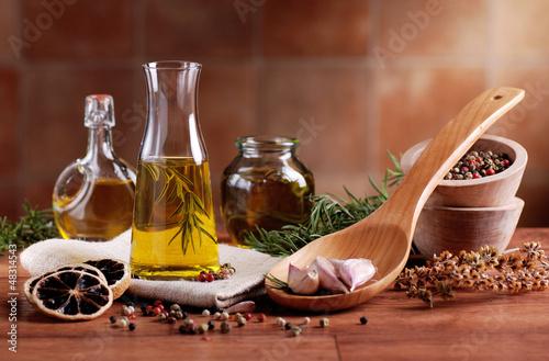 Panel Szklany olio di oliva aromatizzato