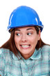 A wrongful female construction worker.