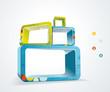 Vector illustration of 3d cubes
