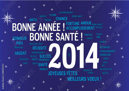 WEB ART DESIGN CARTE VOEUX TAG CLOUD BONNE ANNEE  2014 110