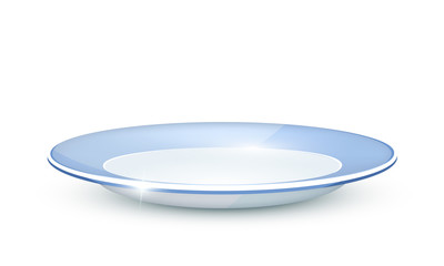 Plate on a white background. Vector illustration.