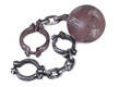 handcuffs and ball and chain