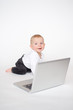 Baby with laptop
