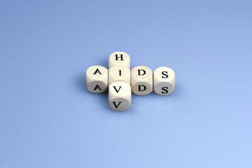 Wort AIDS Buchstabenwürfel