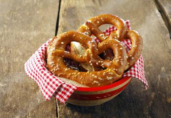 Crisp golden-brown pretzels