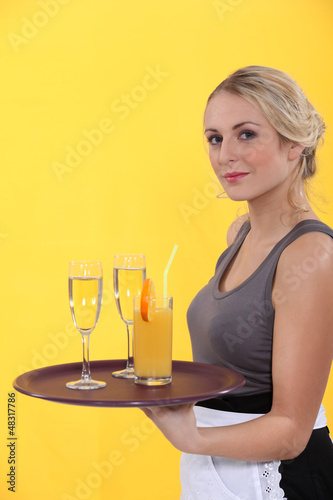 portrait of a waitress