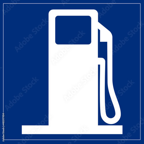 Schild blau - Tankstelle