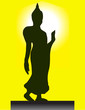 Walking Buddha Posture Image with Ring of the Light