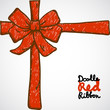 Doodle Red Ribbon
