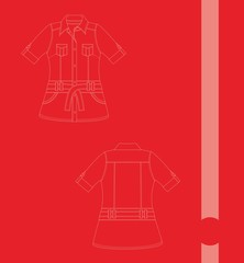 apparel girl line art