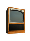tv set retro old model