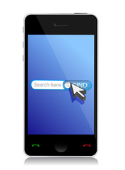 smart phone internet web search