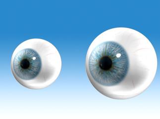 Occhi blu bulbi
