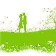 Paar beim Küssen Layout
