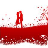 Fototapety Valentinstag Layout