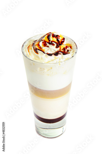 Latte isolated on white